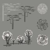 Vektorträdstaffazh vektor illustrationer