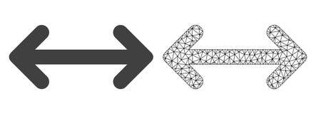 Vektortrådram Mesh Swap Arrows och plan symbol stock illustrationer