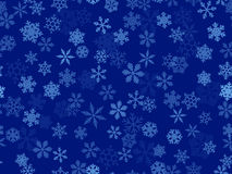 Vektortransparente Schneeflocken Stockbilder