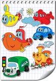 Vektortransport vektor illustrationer