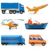 Vektortransportsymboler stock illustrationer