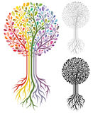 Vektortree Royaltyfri Bild