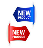 Vektorumbauten des neuen Produktes Stockfoto