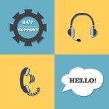 Vektorunterstützung, Call-Center-Satz Lizenzfreie Stockfotos