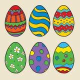 Vektoruppsättning av ägg för påsk Arkivbilder