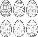 Vektoruppsättning av ägg för påsk Arkivbild