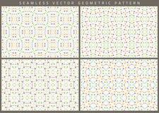Vektoruppsättning av åtta sömlösa modeller Arkivbilder