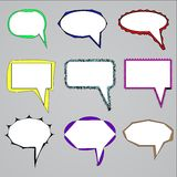 Vektoruppsättning av anförande- och funderarebubblor Royaltyfri Bild