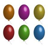 Vektoruppsättning av ballonger Arkivfoton