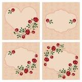 Vektoruppsättning av blom- ramar royaltyfri illustrationer
