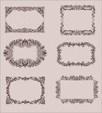 Vektoruppsättning av Calligraphic designbeståndsdelar och Royaltyfri Foto