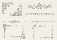 Vektoruppsättning av dekorativa beståndsdelar Royaltyfri Bild