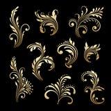Vektoruppsättning av dekorativa beståndsdelar för tappning Royaltyfri Fotografi
