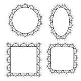 Vektoruppsättning av dekorativa ramar för cirkel Arkivbild