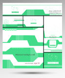 Vektoruppsättning av den företags identiteten från affärskortet, bakgrund, häfte, platstitelrad Fotografering för Bildbyråer