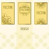 Vektoruppsättning av designbeståndsdelar, etiketter och ramar för att förpacka för lyxiga produkter i tappningstil - ställen och  Royaltyfria Bilder