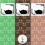 Vektoruppsättning av designbeståndsdelar och symboler i moderiktig linjär stil för tepacken - kinesiskt te stock illustrationer
