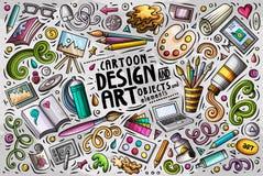 Vektoruppsättning av designtemaobjekt Fotografering för Bildbyråer