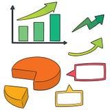 Vektoruppsättning av diagrammet Arkivfoton