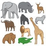 Vektoruppsättning av djur stock illustrationer