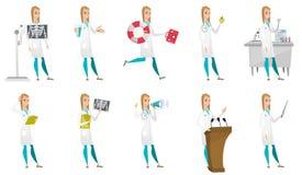 Vektoruppsättning av doktorstecken royaltyfri illustrationer
