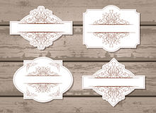Vektoruppsättning av etiketter med dekorativa beståndsdelar Fotografering för Bildbyråer
