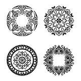 Vektoruppsättning av etniska dekorativa cirklar Arkivbilder