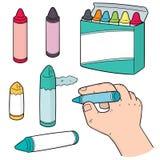 Vektoruppsättning av färgpennor Fotografering för Bildbyråer