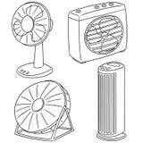 Vektoruppsättning av fanen stock illustrationer