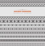 Vektoruppsättning av forntida gränser Arkivfoto