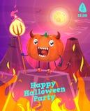 Vektoruppsättning av halloween illustrationer stock illustrationer