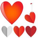 Vektoruppsättning av hjärtor. Royaltyfri Bild