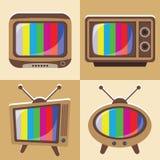 Vektoruppsättning av klassisk television 1 Fotografering för Bildbyråer