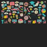 Vektoruppsättning av klotteraffärssymboler Arkivfoton