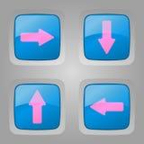 Vektoruppsättning av knappar. Royaltyfria Bilder