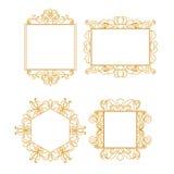 Vektoruppsättning av konstramar för designmall royaltyfri illustrationer