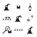 Vektoruppsättning av linjära symboler Arkivfoton