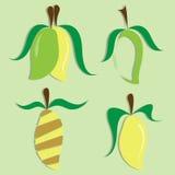 Vektoruppsättning av mangosymbolen royaltyfri illustrationer