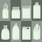 Vektoruppsättning av medicinflaskan stock illustrationer