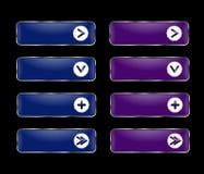 Vektoruppsättning av rektangulära knappar med en rund ram Royaltyfria Foton
