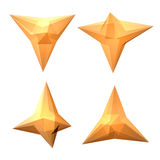 Vektoruppsättning av sikter av genomskinlig komplex geometrisk form Arkivbilder