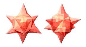 Vektoruppsättning av sikter av genomskinlig komplex geometrisk form Royaltyfri Fotografi