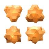 Vektoruppsättning av sikter av genomskinlig komplex geometrisk form Royaltyfria Bilder