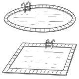 Vektoruppsättning av simbassängen Royaltyfri Fotografi