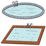 Vektoruppsättning av simbassängen Arkivbilder