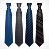 Vektoruppsättning av slipsar royaltyfri illustrationer