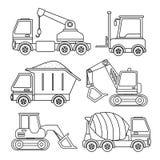Vektoruppsättning av special utrustning stock illustrationer
