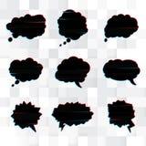 Vektoruppsättning av svarta anförandebubblor Royaltyfri Foto