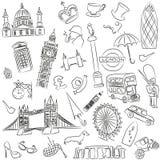 Vektoruppsättning av symboler av England stock illustrationer