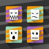 Vektoruppsättning av symboler av mammaallhelgonaaftonen, feriesamling Arkivbilder